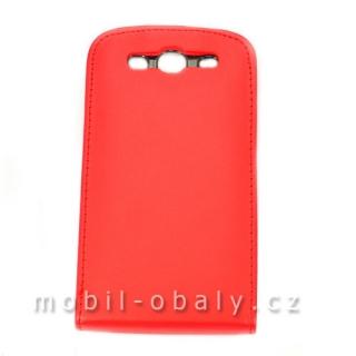 Pouzdro Forcell na mobil Samsung Galaxy S3 červená umělá kůže empty c810ac69fe4