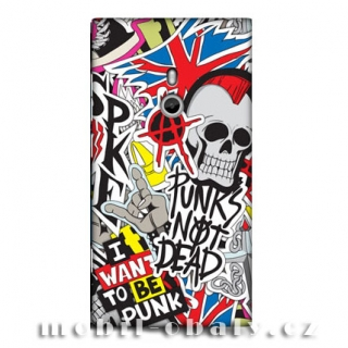HEAD CASE obal na mobil Nokia Lumia 800 barevný Punk is not Dead